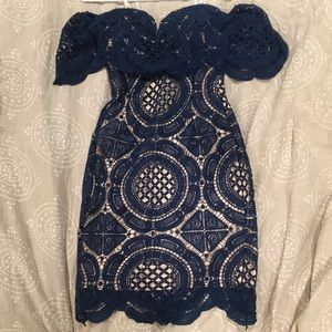 NWT Lulu's Strapless Crochet Dress